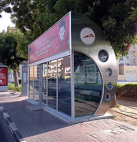Air-conditioned bus shelter
