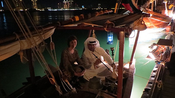 J on a dhow