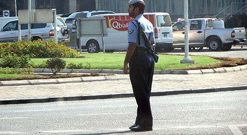 Armed policeman