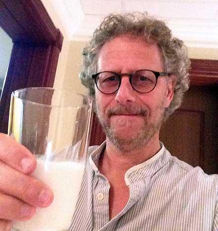 Ian drinking camel milk
