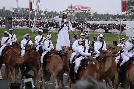 Camels and riders