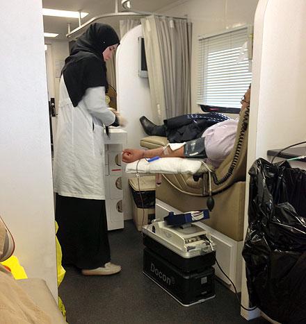 Inside blood clinic