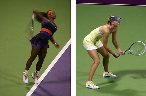 Serena Williams and Sharapova