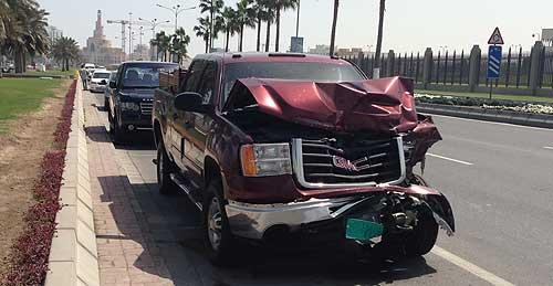 Accident damgae car