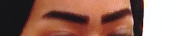 The Qatari eyebrow