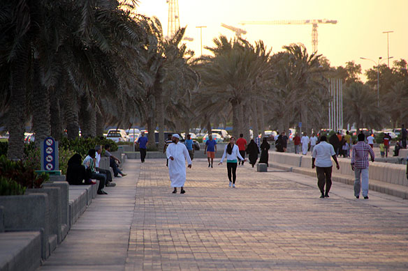 Walking along the Corniche
