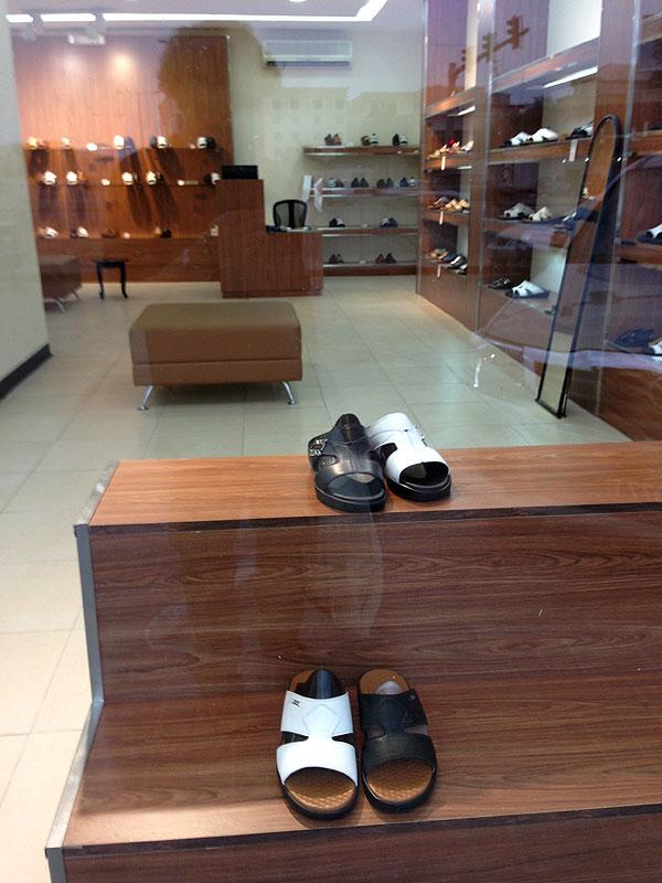 Shop selling sandals